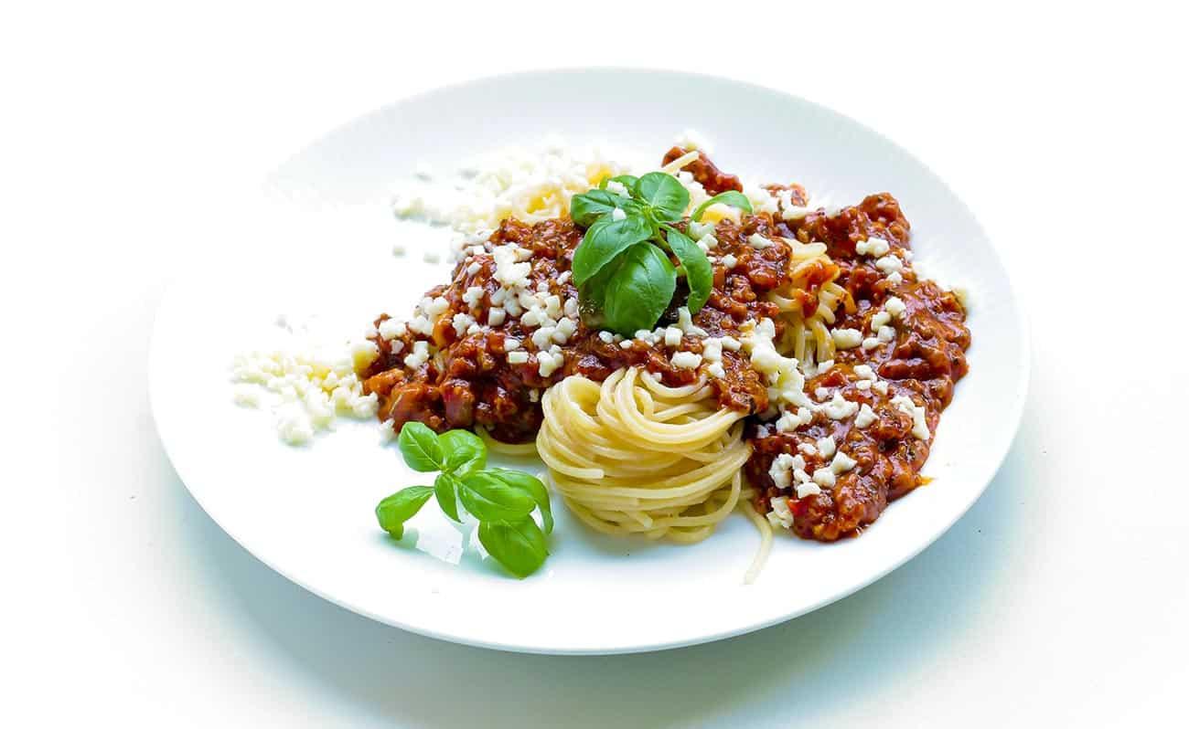 Healthy spaghetti bolognese recipe