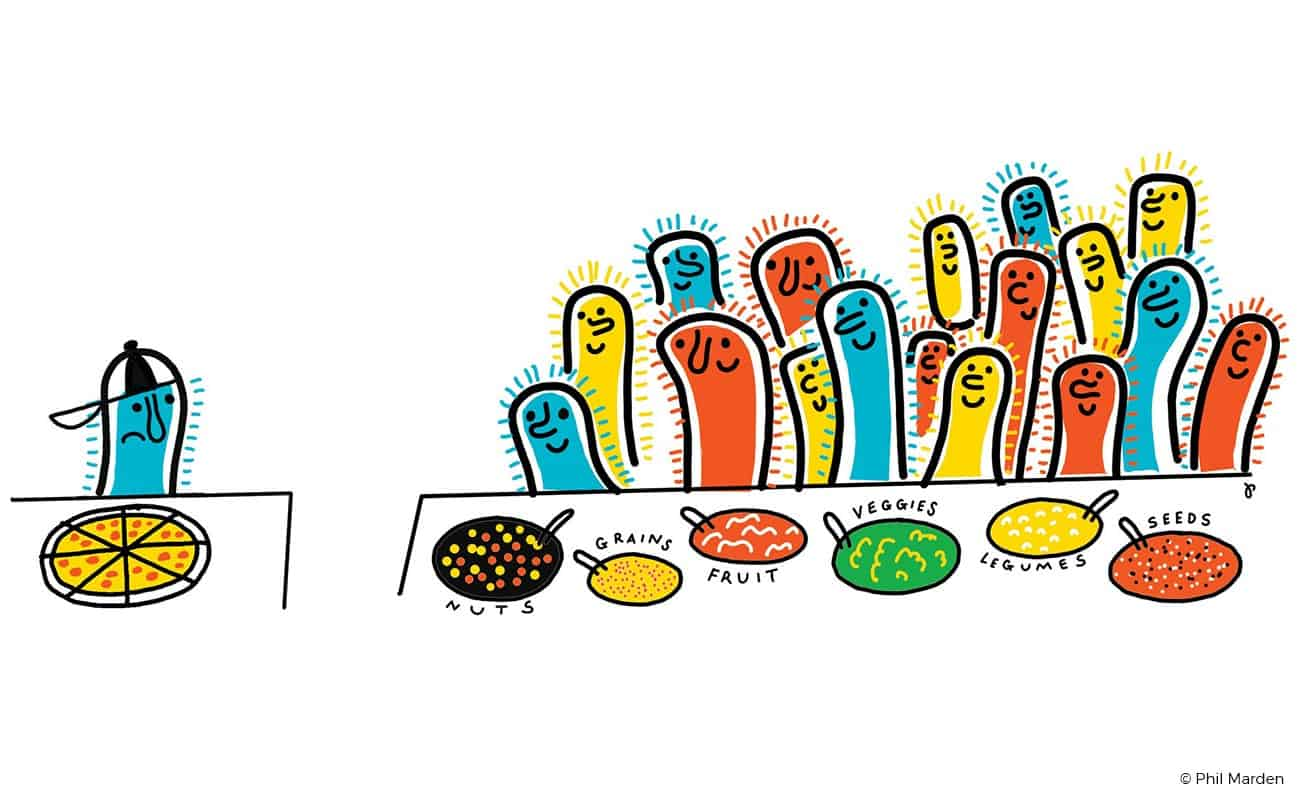 Microbiota illustration