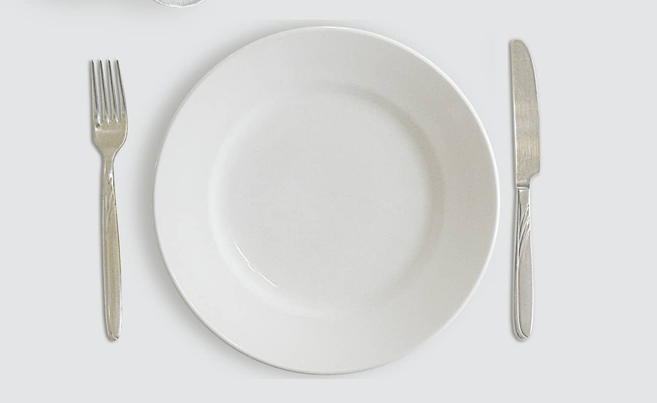 Intermittent fasting empty plate