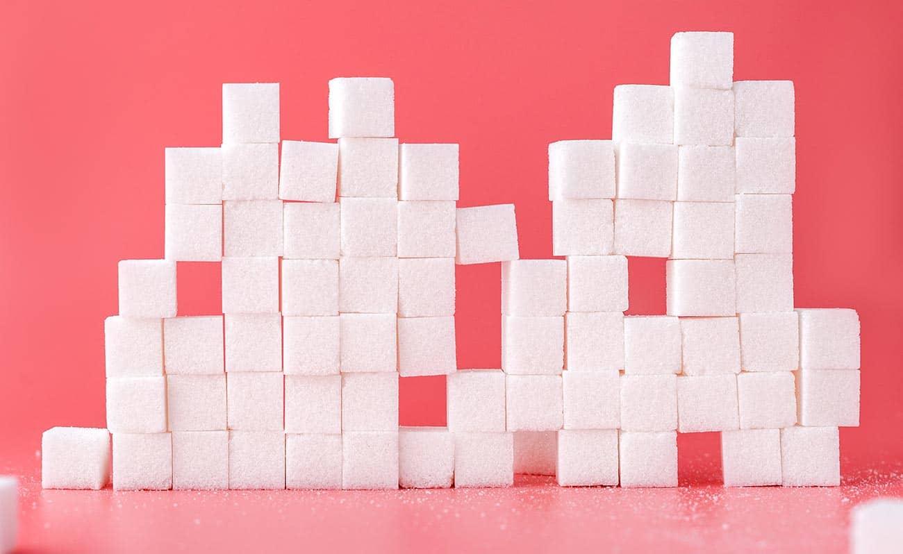 Sugar blocks stacked
