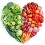 fresh fruit vegetables heart